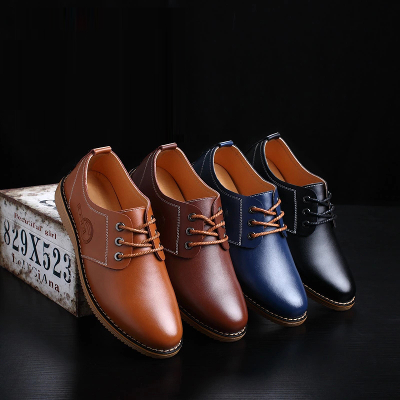 CIMIM Brand High Quality Men Leather Shoes British Style Handmade Flats Oxfords Lace Up Flats Men Casual Shoes Plus Size Loafers serene men oxfords shoes british style lace up shoes waterproof low ankle boots leisure men flat shoes comfortable flats 6215