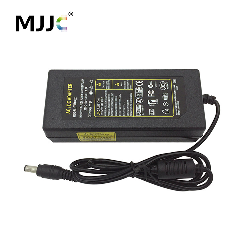 48V 2A LED Desktop Adapter Power Adapter 96W Power Supply with US EU Standard AC Cable Plug for LED Lights