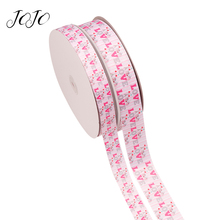 JOJO BOWS 25/38mm 5y Grosgrain Ribbon Love Printed Webbing For Needlework DIY Hair Bows Gift Wrapping Holidays Party Decoration