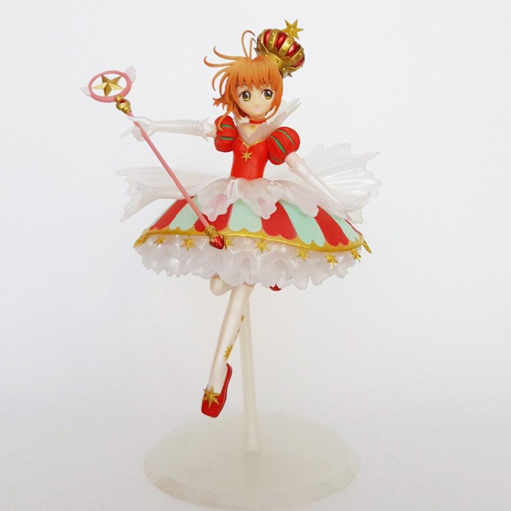 Sakura Card Captor Action Figures 15th Anniversary Anime Cardcaptor Magic Girl Sakura Collectible Model Toys 25CM
