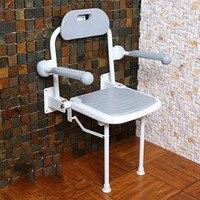 Ванная комната складной стул барьер для кресел Бесплатная табурет для ванной поручнями пожилой безопасности Ванна стула стены душевой таб