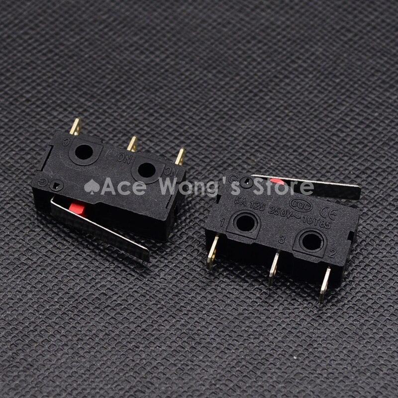10PCS Limit Switch, 3 Pin N/O N/C High quality All New 5A 250VAC Micro Switch short