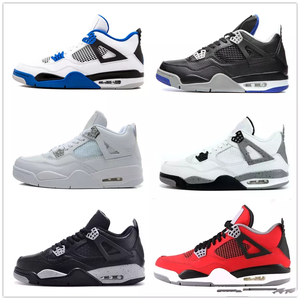 new style 7fe7e 4b58e Classic 4 4s toro bravo fear pack men women basketball shoes sneakers with  box bred high sports shoes sizes 5.5-13