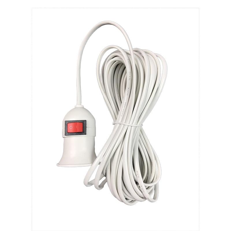 E27 Lamp Bases 4 M Power Cord EU/US Plug Independent Button Switch Line For LED Pendant Light Bulb Suspension Socket
