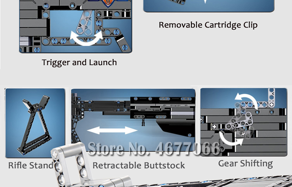 Legoed gun model building blocks p90 toy gun toy brick ak47 toy gun weapon legoed technic bricks lepin gun toys for boy 19