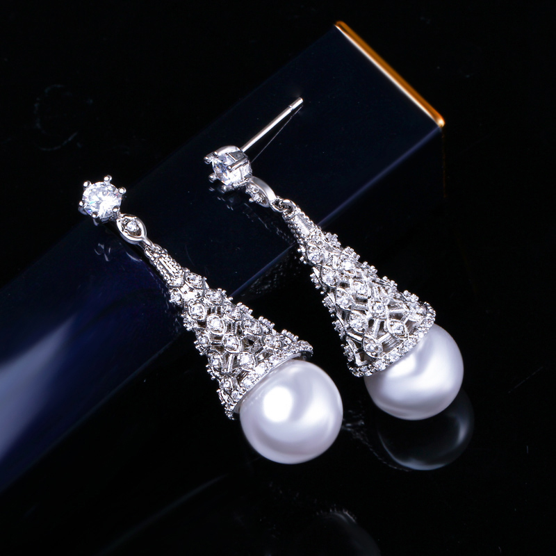 Pearl Drop Earrings 6