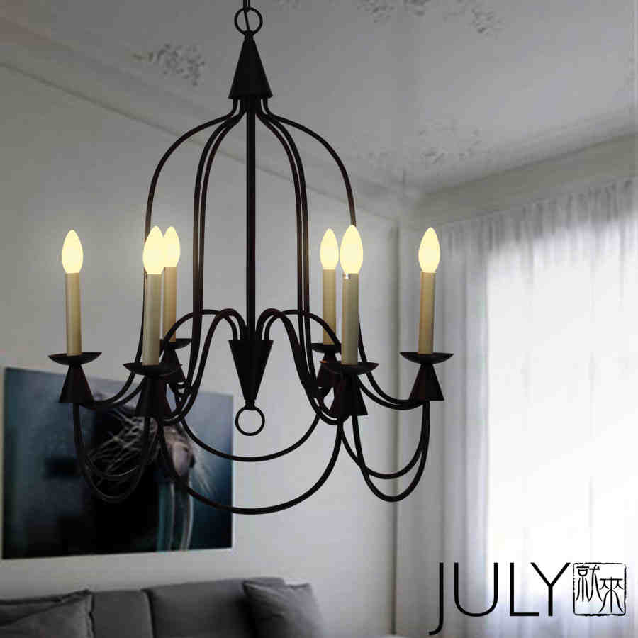 American Country Simple Candle Foyer Pendant Light Loft Style Dining Room Decoration Light Cafe Light AC90-265V Free Shipping free shipping high 120cm european traditional painted cock wind vane flower insert country style classic garden decoration