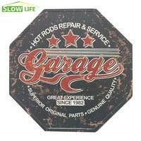 2017 New Hexagon Tin Sign 3 Stras Garage Metal Tin Sign Vintage Home Decor Metal Plate