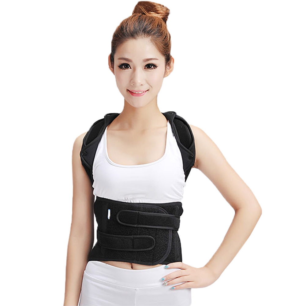 Back Shoulder Posture Corrector Thoracic Lumbo-Sacral Orthosis Support Medical Spinal Fracture Kyphosis Slouch Brace wristbands long wrist thumb brace support stabilizer brace 3 aluminum splint inside scaphoid fracture