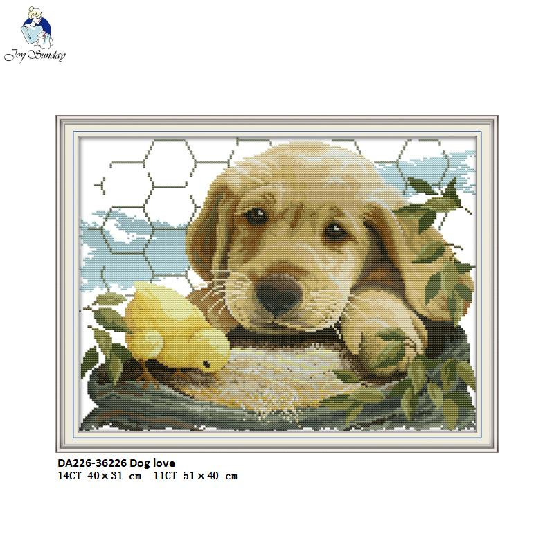 Two Fox(2)31/×31CM Joy Sunday Cross Stitch Kit 14CT Stamped Embroidery Kits Precise Printed Needlework