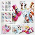 Retail 5 par/pack 1-10years calcetines Niños de dibujos animados Bebé infantil niños Unisex Algodón Peinado de primavera, otoño, verano