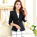 Echoine Long Sleeve Casual Office Blazer Women Fashion Slim Single Breasted Notched Blaser Feminino Candy Colors OL Coat