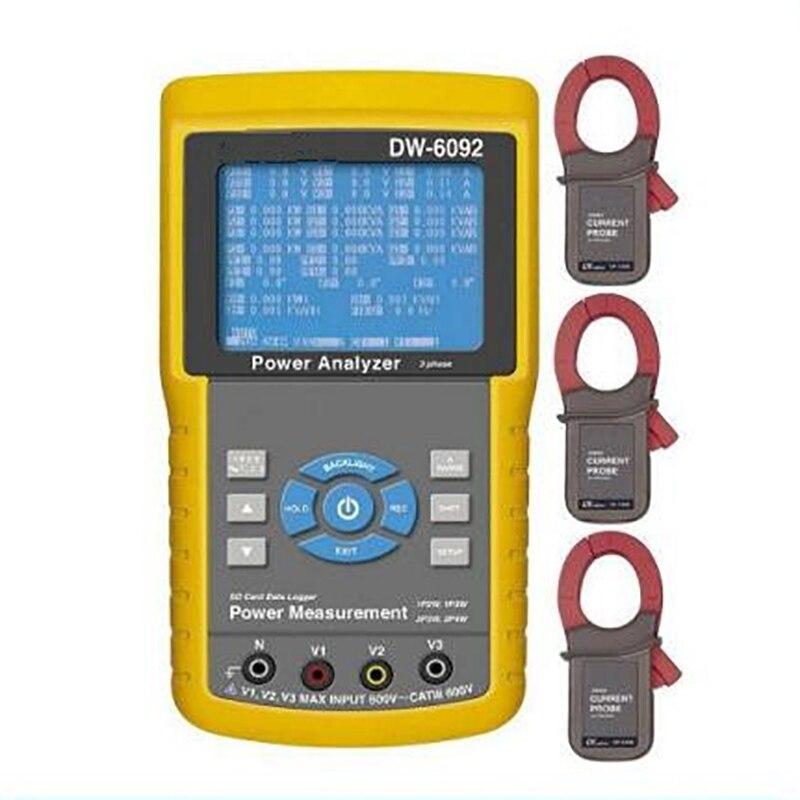 Enregistreur de données en temps réel de testeur d'analyseur de compteur de puissance de 3 phases de DW-6092