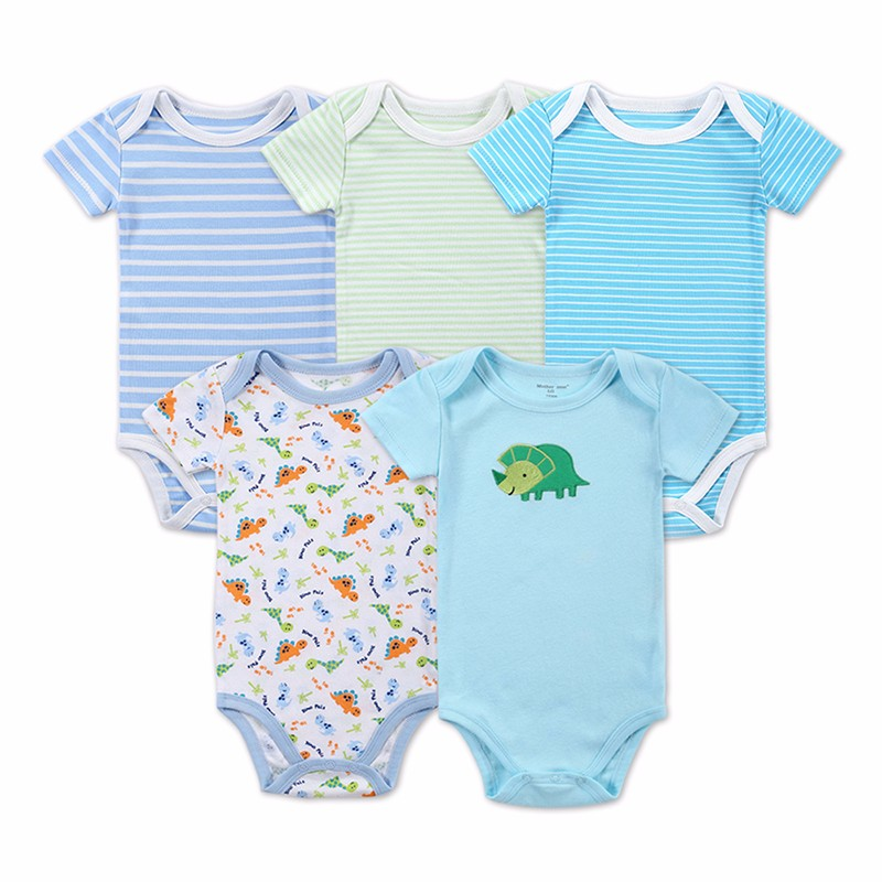 5 Pcslot Retail Baby Girl Clothes Cartoon Baby Bodysuit Girl Boy 0-12M Infant Short Sleeve Creeper Baby Boy Girl Bebe Body Suit (5)