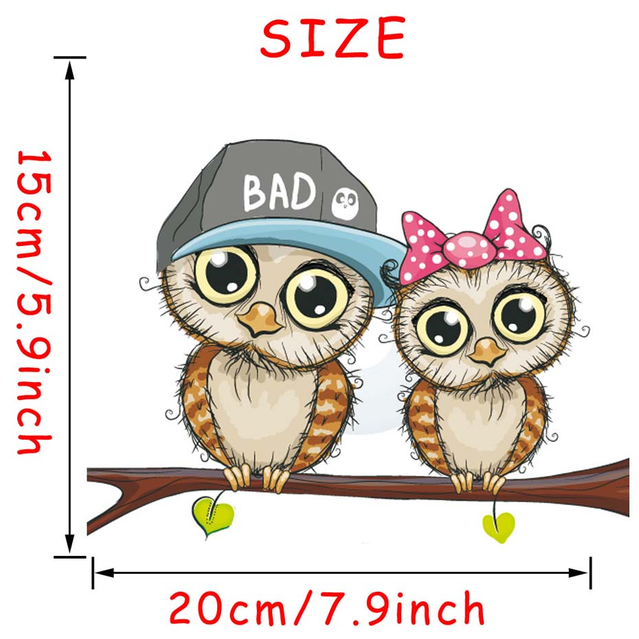 1 Pcs 20 15CM 3D Cartoon Funny Owl Car Stickers Fashion Vinyl Styling Decals For Motorcycle Car Window Decorative Accessories in Car Stickers from Automobiles Motorcycles