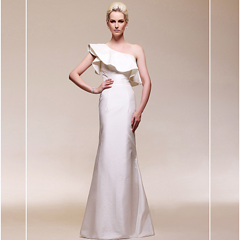 long mermaid Evening Unique Design robe de soiree Formal Floor-Length 2018 sexy one shoulder ruffles mother of the bride dresses