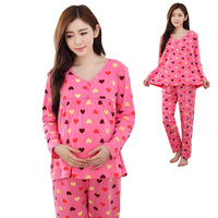 Pregnant Women Month Suits Cotton Pajamas Postpartum Maternity Home Clothing Breasts Autumn And Winter