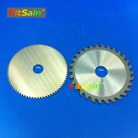FitSain 4 Saw Blades For Wood Plastic Cutting Discs Mini Electric Chainsaw Circular Wood Cutter 100mm