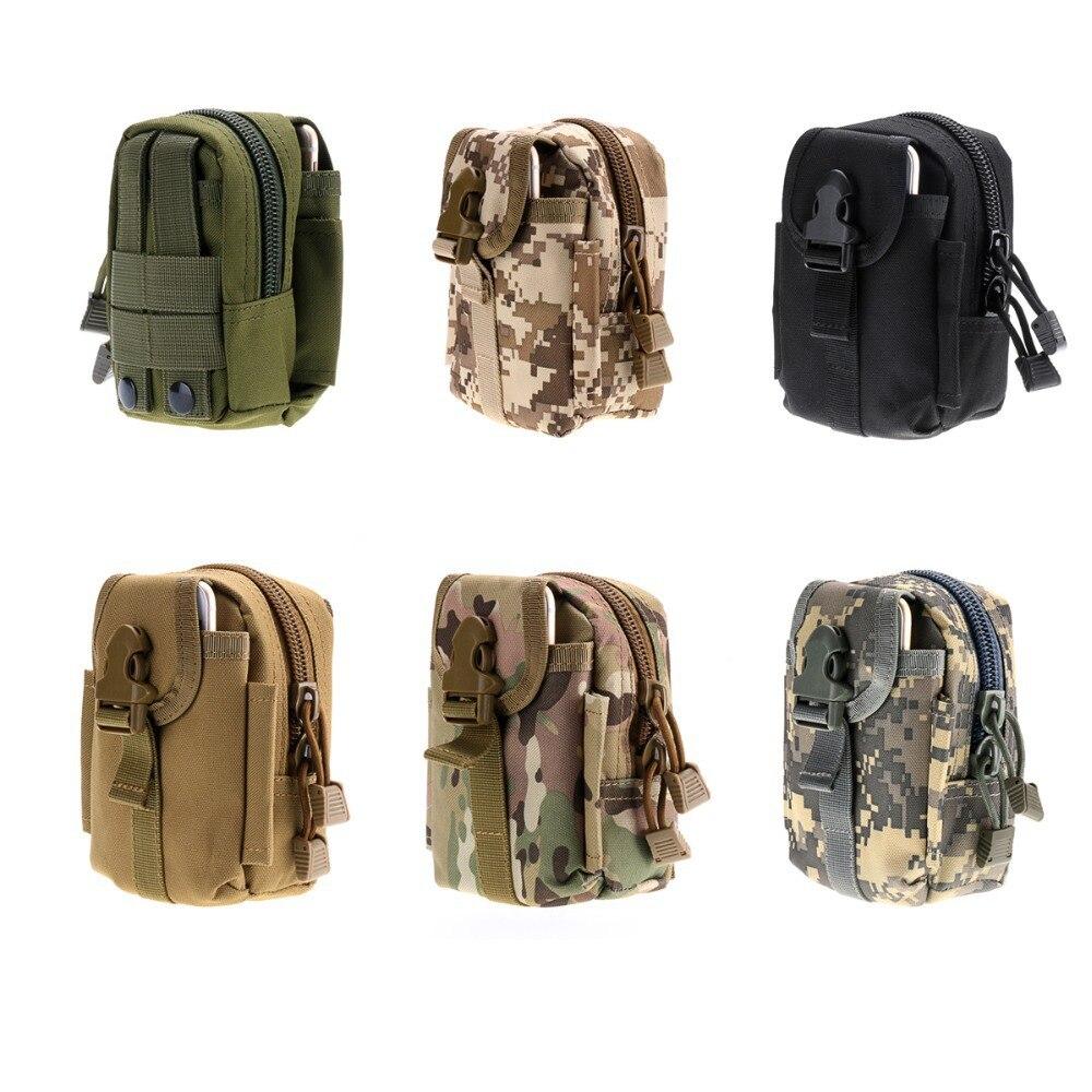 Outdoor Tactical Waist bag Camo Molle Bag Multifunction Military Men Sport Hiking Waist Bag Hunting Bag Mobile Phone Coin Purse