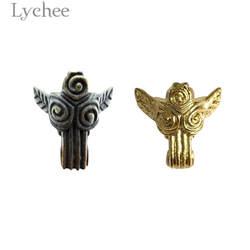 Личи 4 шт. Ангел Дизайн сундук для украшений ноги ногу старинное серебро Цвет золото Цвет металлическая коробка ножка для мебели Запчасти