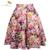 2017 retro rockabilly vintage falda de la impresión floral de la bola del vestido de midi Skater Falda de Verano de Cintura Alta Faldas 50 s Pin Up Faldas para mujer