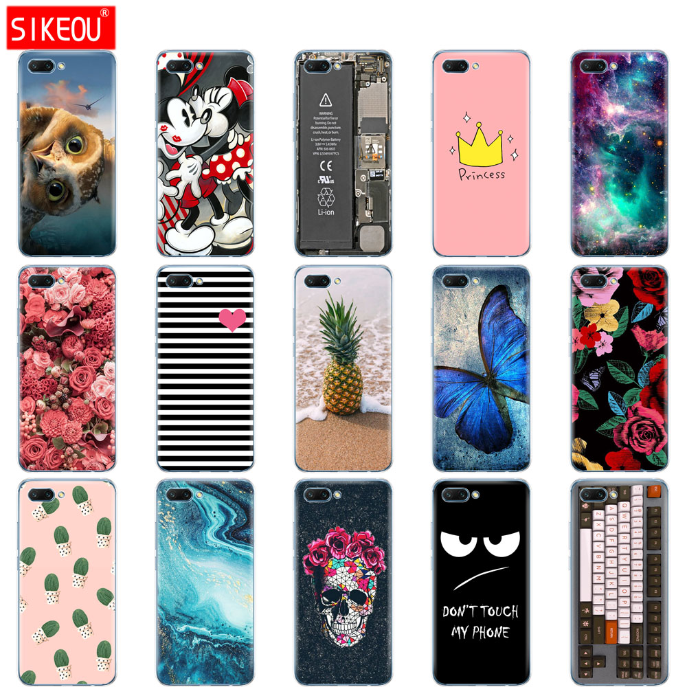 silicone case for huawei honor 10 case soft tpu back cover 3D phone case for honor10 Case Coque Etui full 360 protective image