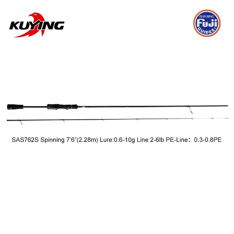 KUYING Nieuwe SUPERLITE 2.28m 7'6 2.58 m 8'6 Spinning Casting Vissen Lokken Rod Stick Cane Pole Super snelle Actie Bodem Water Vis - 3