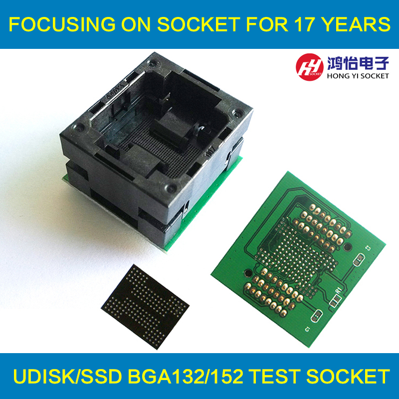 BGA132 BGA152 to DIP48 Adapter IC Test Socket BGA88 BGA136 Burn in Socket Programmer Socket Open Top Structure Test Seat import cnv msop 8 test socket adapter convert burn msop8 to dip8