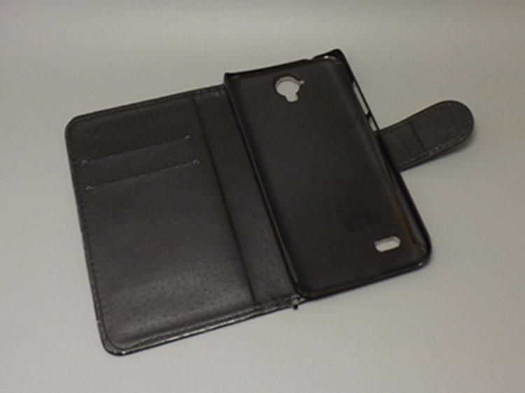 Crazy horse wallet case hold two Cards with 2 Card Holder and pouch slot for Huawei Ascend Y560 Huawei Y560