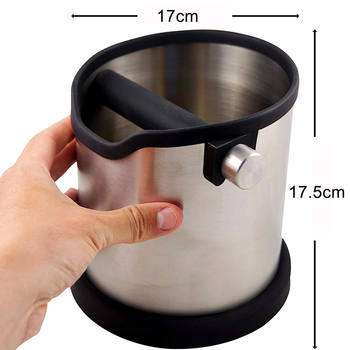 Knock Box Espresso | 1800ml Stainless Steel Coffee Knock Box Espresso Grounds Waste Bucket Container