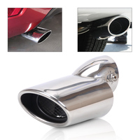 CITALL New Car Styling Acc 1Pc Stainless Steel Exhaust Tail Pipe Rear Muffler Tip End Pipes