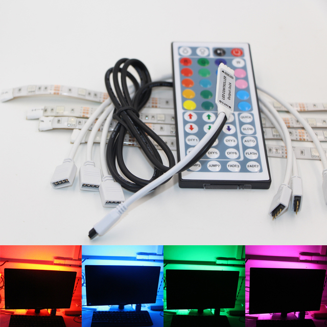 USB Powered RGB Colour Change 5050 LED Strip Computer Bias Lighting TV USB Backlight Light Kit  sc 1 st  AliExpress.com & USB Powered RGB Colour Change 5050 LED Strip Computer Bias Lighting ...