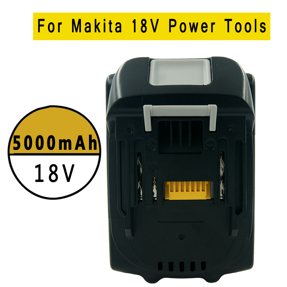 18V 5.0Ah Lithium-Ion Battery Replacement for Makita BL1850 BL1840 BL1830 BL1820 LXT-400 194204-5 Cordless Power Tools аккумулятор patriot 12v 1 5 ah bb gsr ni