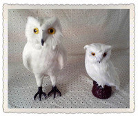 Simulación lindo white owl owl modelo decoración del hogar apoyos modelo de polietileno y pieles, modelo regalo d273