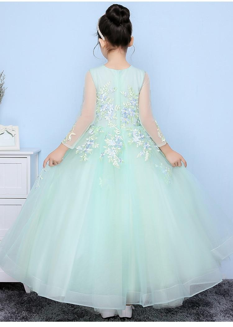 Glizt Girls Wedding Dresses 2017 New Light Blue Tulle Princess ...