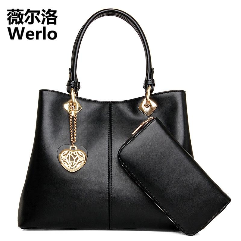 WERLO Brand Designer Women Bag Handbag Fashion Ladies Large Composite Bag Luxury Hot Shoulder Bag New Female Messenger Bag SJ195
