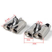 Stainless Steel Car Exhaust Pipe Tips Dual Muffler Tips Tailpipe For Mercedes W220 Benz S Class