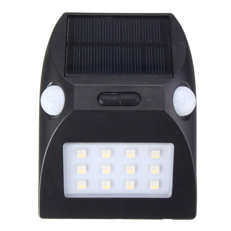 Versprechende 12 LED Solar Licht PIR Bewegungsmelder Lampe Outdoor-led-garten Licht Sicherheit Wandleuchte