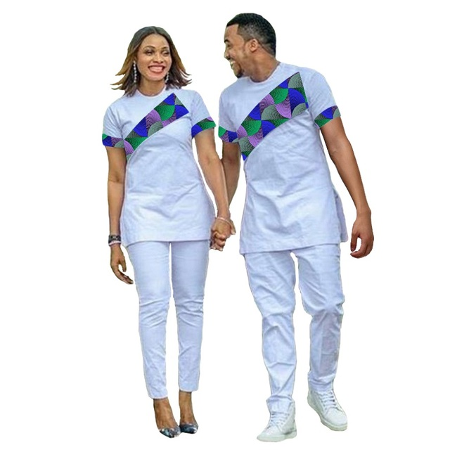 a3b1471626b African Couple Outfit Women Sets And Men Sets Outfit for Couples Fashion  Couple s Prom Outfits T-shirt Africa Clothing Custom