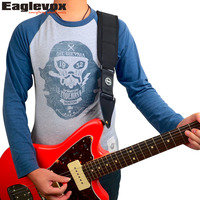 Eaglevox Memory Foam Guitar Strap For Electric Bass Genuine Leather End Belt 110 134 Cm Amumu