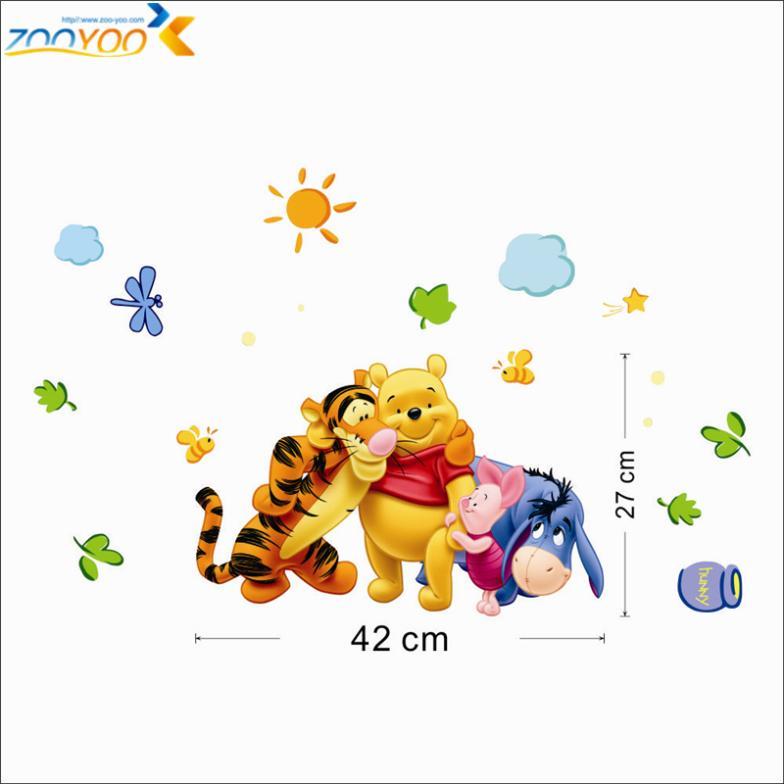 winnie the pooh φίλους τοίχο decals για παιδιά - Διακόσμηση σπιτιού - Φωτογραφία 5