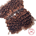 EVET Brazilian Jerry Curly Hair Weave 4 Bundles/Lot Top Grade Unprocessed Virgin Human Kinky Curly Hair Weavings 120g/Pack