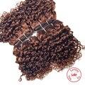 Evet brasileño Jerry rizado armadura del pelo 4 Bundles / Lot grado superior humano virginal sin procesar rizado rizado cabello tejidos 120 g/Pack