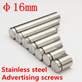 M16 Stainless Steel Hollow Advertisement Fixing Screws Glass Standoff Pin Fastener