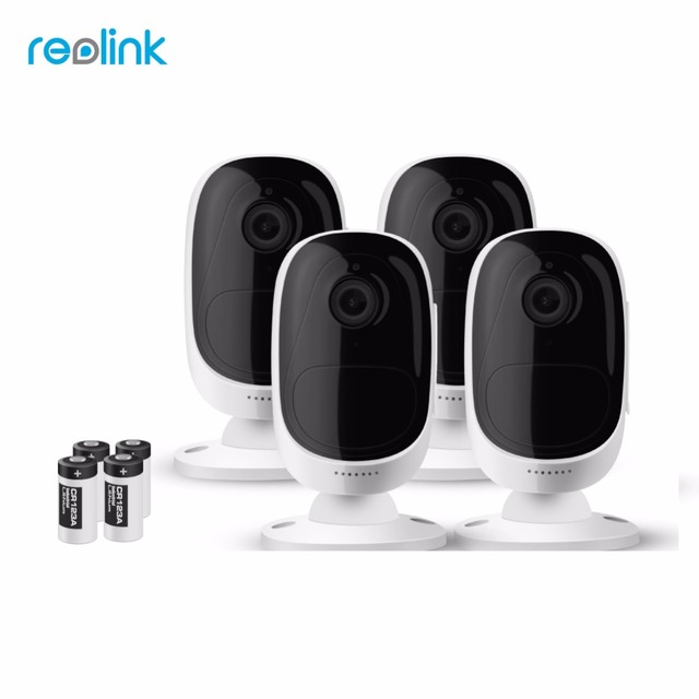 Reolink Wireless WiFi Battery IP Camera 2MP Outdoor Full HD Wire-Free Weatherproof Indoor Security Cam Argus-4(4 cam pack)