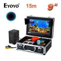 EYOYO Original 15M HD1000TVL Underwater Depth Fish Finder 9 LCD W Remote Control Infrared LED Ice