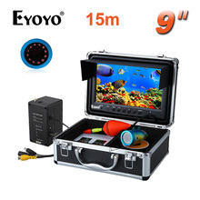 EYOYO Original 15M HD1000TVL Underwater Depth Fish Finder 9″ LCD W/Remote Control Infrared LED Ice Video Fishing Camera