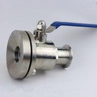 Sanitary Stainless steel 304 O.D 19 102MM bottom valve water pump grade tank bottom ball valve flange tank bottom valve