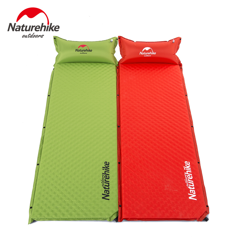 NatureHike Self Inflating Sleeping Pad with Pillow Ultralight Inflatable Camping Mat Thick Air Mattress naturehike inflatable camping mat sleeping pad utralight inflating air mattress single tent bed with pillow