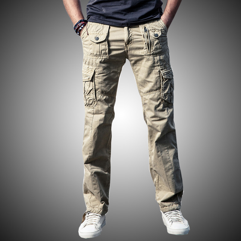 Colto Multi-tasca Pantaloni Cargo Tattici Degli Uomini Di Casual Cotone Esercito Stile Militare Di Combattimento Pantaloni Cargo Pantaloni Degli Uomini Vestiti 2018 Nero Cw276 Lussuoso Nel Design